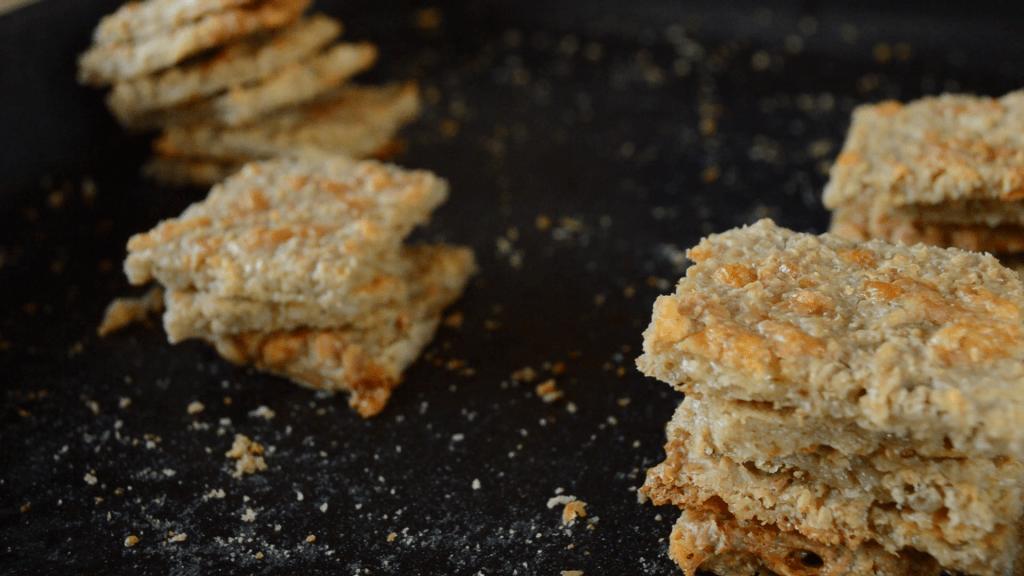 Galletitas de avena fermentada de queso
