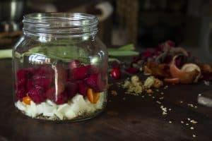Preparando vegetales fermentados