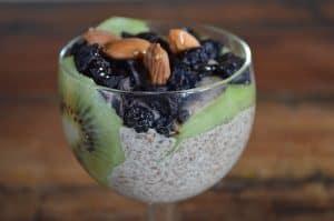 Parafait, de kiwi, arándanos y chía