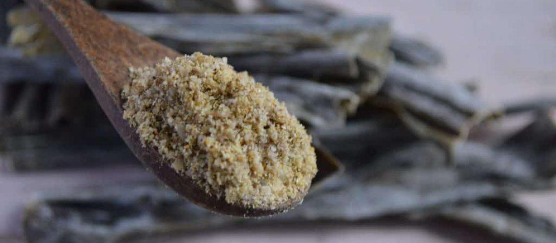 Condimento de girasol y kombu
