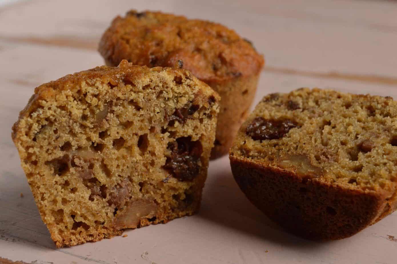 Muffins MM de arroz, pasas y nueces